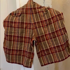 Men's plaid shorts 2 pairs!
